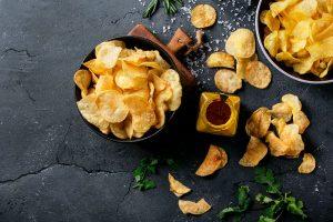 Patatas fritas con salsa