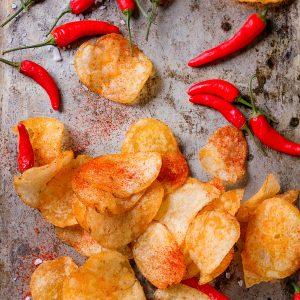 Patatas fritas con cayena
